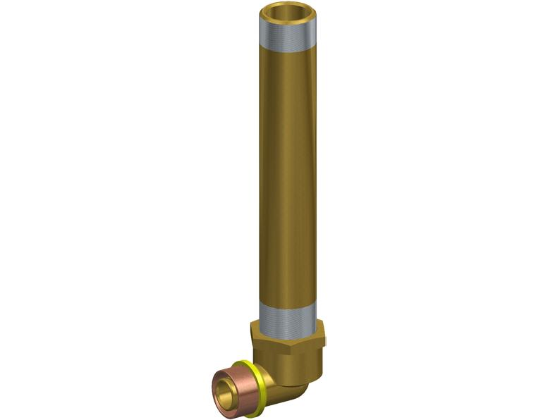 20X20 FK1 GAS ELBOW MI X.2M WBACK BRASS 20MM BSP THR