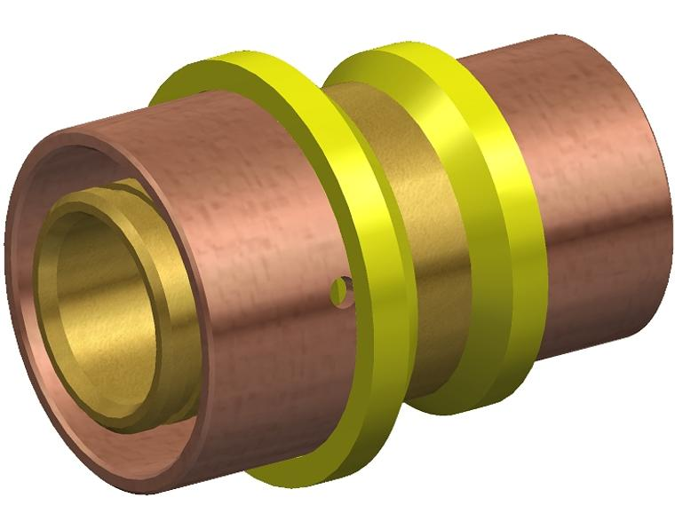 20X16 FK1 GAS JOINER RED BRASS