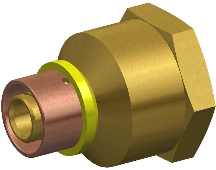 16X20 FK1 GAS ADAPT FI BRASS