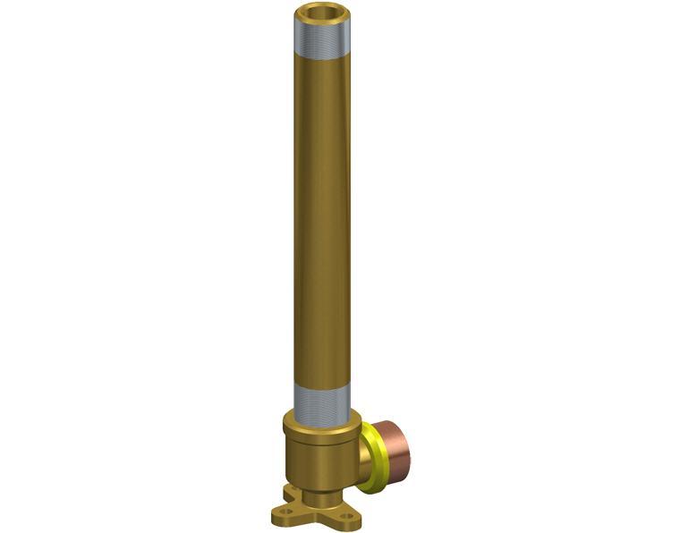 20X15 FK1 GAS ELBOW MI X.2M WBACK BRASS 15MM BSP THR